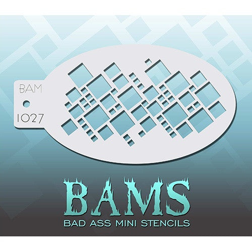 Bad Ass Mini Stencils - Squares (BAM1027)