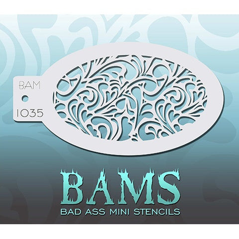 Bad Ass Mini Stencils - Swirly Hearts (BAM1035)