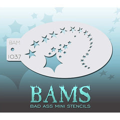 Bad Ass Mini Stencils - Shooting Stars (BAM1037)