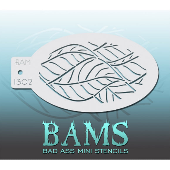 Bad Ass Mini Stencils - Leaves (BAM 1302)