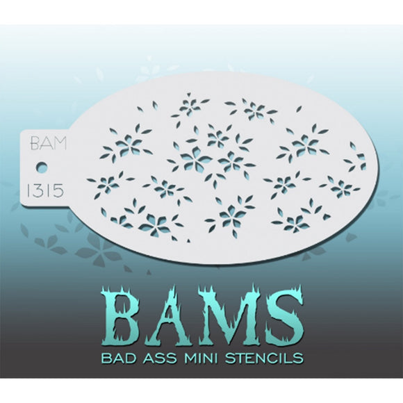 Bad Ass Mini Stencils - Little Flowers (BAM 1315)