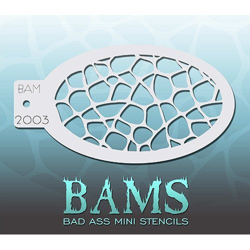 Bad Ass Mini Stencils - Turtle Shell (BAM2003)