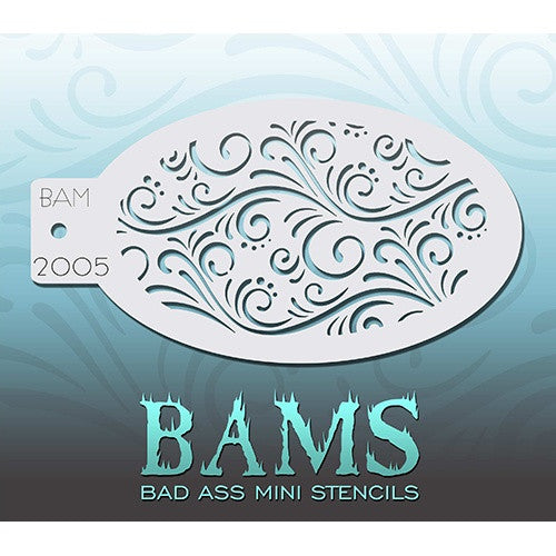 Bad Ass Mini Stencils - Swirls & Dots (BAM2005)