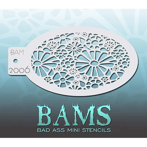 Bad Ass Mini Stencils - Daisies (BAM2006)