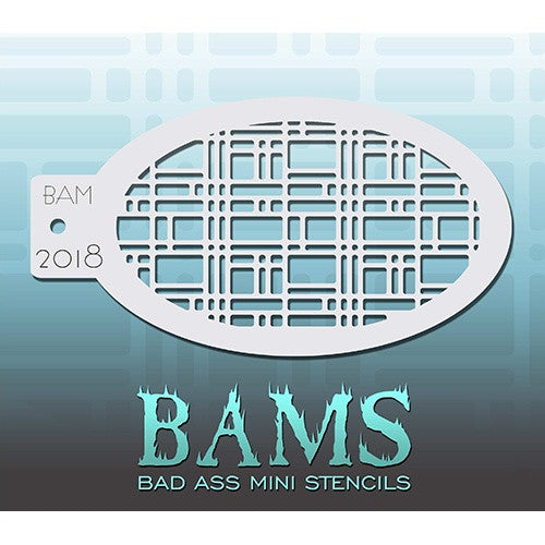 Bad Ass Mini Stencils - Angled Retro (BAM2018)