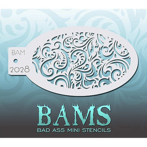 Bad Ass Mini Stencils - Swirly (BAM2028)