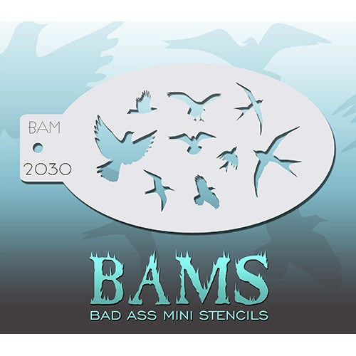 Bad Ass Mini Stencils - The Birds (BAM2030)