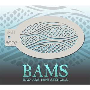 Bad Ass Mini Stencils - Scaly Skin (BAM3007)