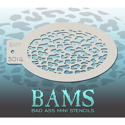 Bad Ass Mini Stencils - Small Leopard (BAM3014)