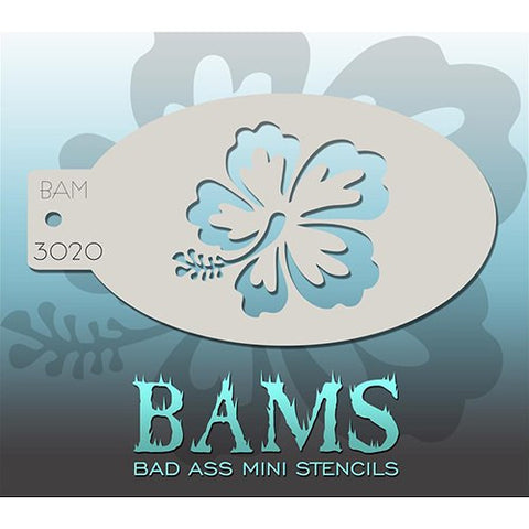 Bad Ass Mini Stencils - Hibiscus (BAM3020)