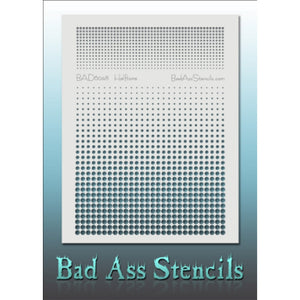 Bad Ass Full Size Stencils - Halftone (BAD6048)