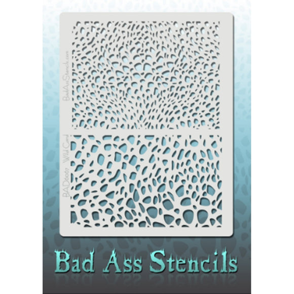 Bad Ass Full Size Stencils - Wild Card (BAD6067)