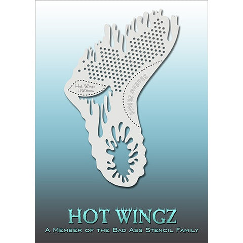 Bad Ass Hot Wingz Stencils - Dots and Drips (HOTWING8004)
