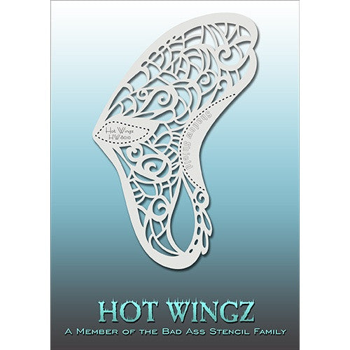 Bad Ass Hot Wingz Stencils - Butterfly (HOTWING8010)