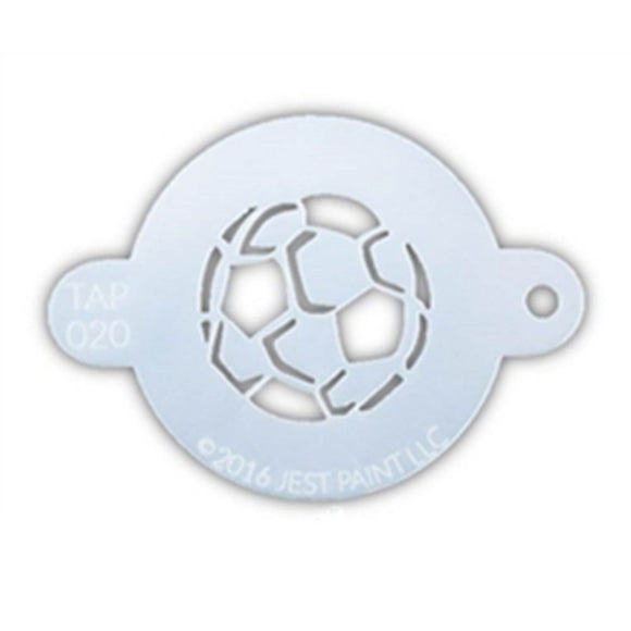 TAP Face Paint Stencil - Soccer Ball (020)