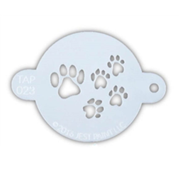 TAP Face Paint Stencil - Paw Prints (023)