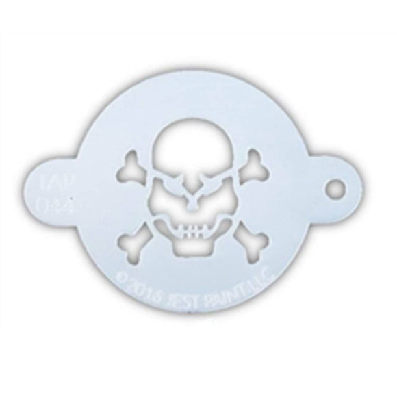 TAP Face Paint Stencil - Skull with Crossbones (044)