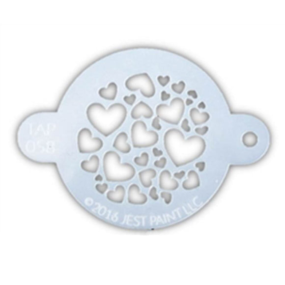 TAP Face Paint Stencil - Sweet Hearts (058)