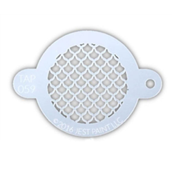 TAP Face Paint Stencil - Fish Scales (059)