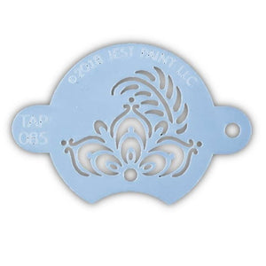 TAP Face Paint Stencil -  Henna Fancy Flower Centerpiece (085)