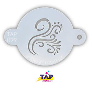 TAP Face Paint Stencil - Swirly Detail (099)