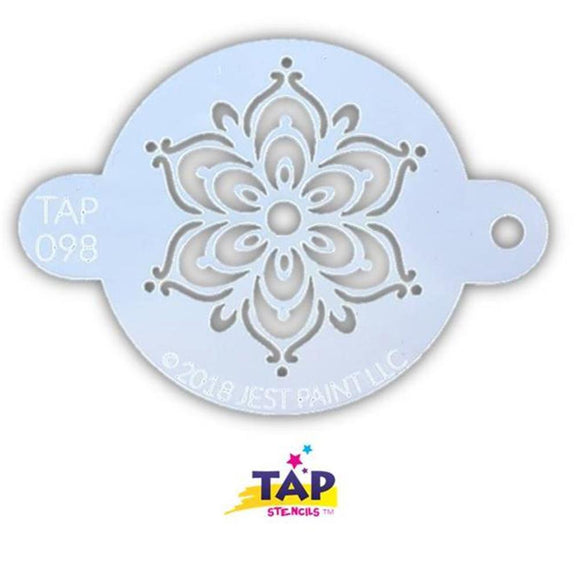 TAP Face Paint Stencil - Henna Fancy Flower (098)