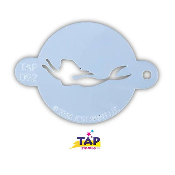 TAP Face Paint Stencil - Swimming Mermaid (092)