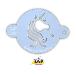 TAP Face Paint Stencil - Pretty Unicorn Centerpiece (089)