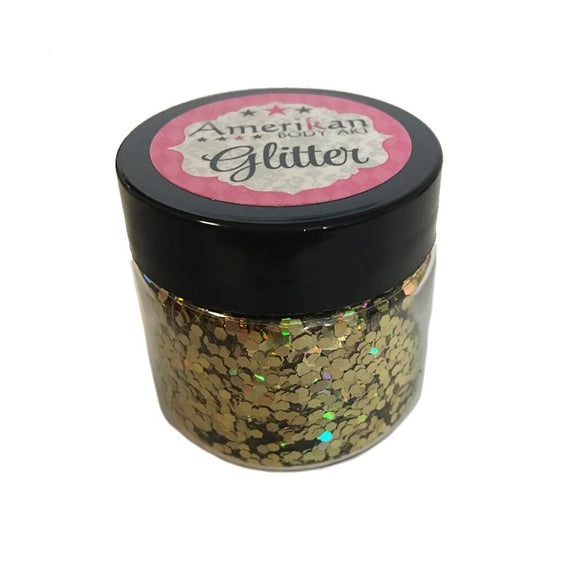 Amerikan Body Art Chunky Glitter - Holographic Gold (1 oz)