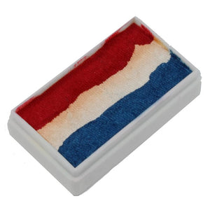 TAG 1-Stroke Split Cake 3 Color Pearl Red/White/Blue 30 gm
