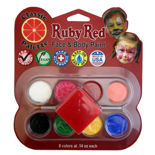 Ruby Red Face Paints - Classic Palette
