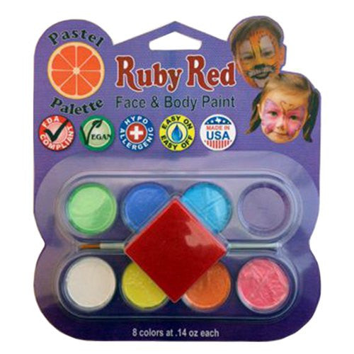 Ruby Red Face Paints - Pastel Palette