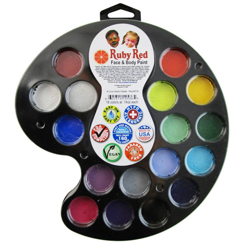 Ruby Red Artist Palette - 16 Color