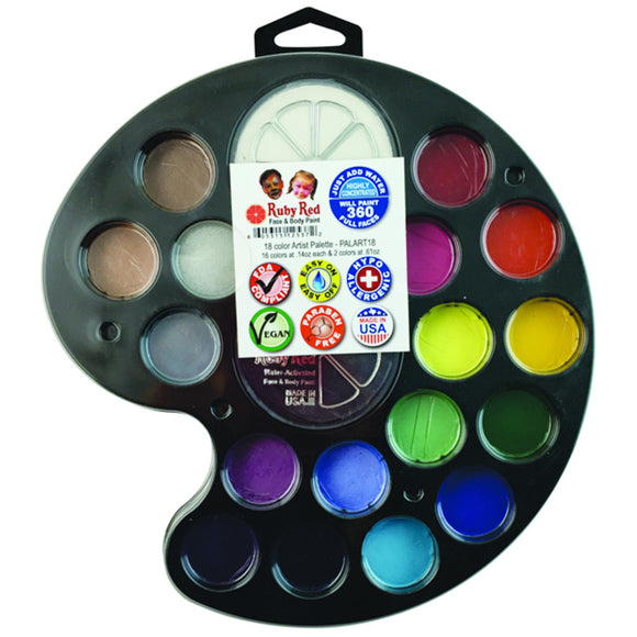 Ruby Red Artist Palette - 18 Color