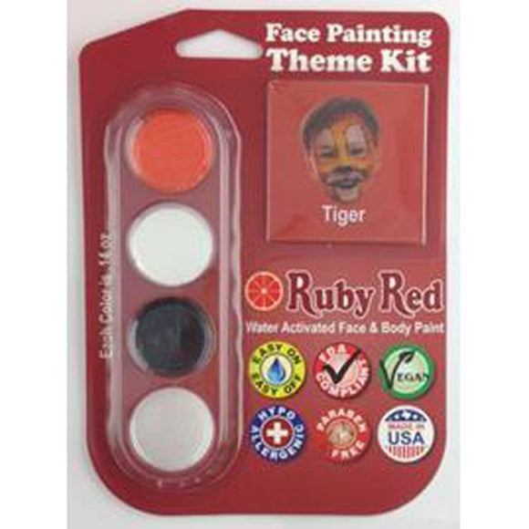 Ruby Red Face Paints - Tiger Theme Kit