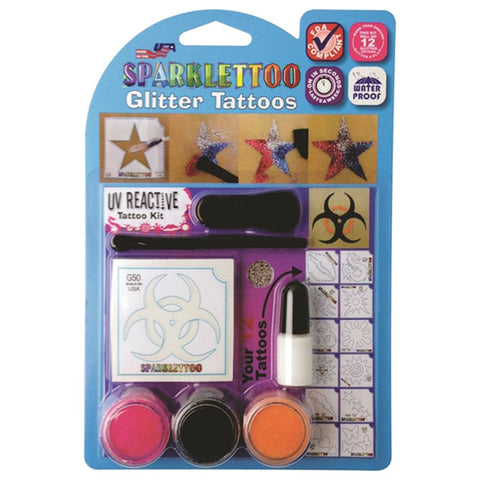 Ruby Red Sparklettoo Kit - UV Reactive