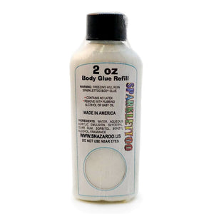 Ruby Red Glitter Tattoo Glue Refill (2 oz/60 ml)