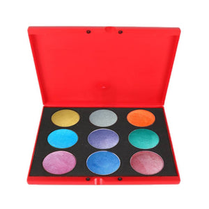 Kryvaline 9 Color Face Paint Palettes - Metallic (30 gm)