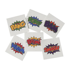 Temporary Transfer Tattoos - Superhero (6 Pack)
