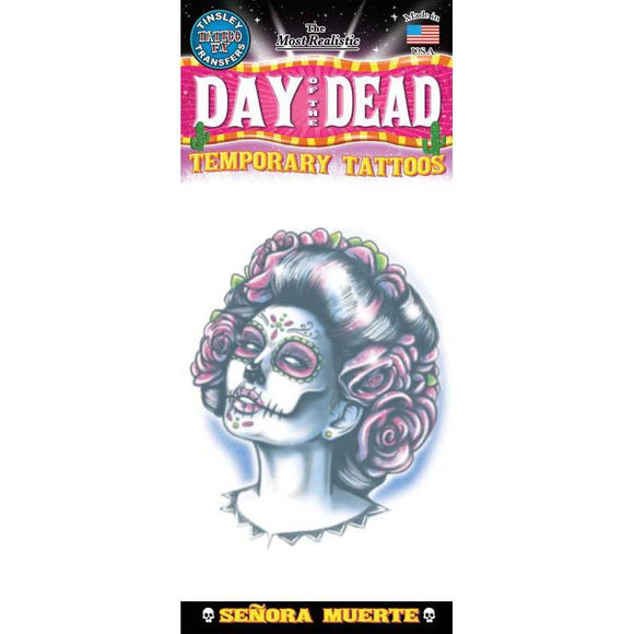 Tinsley Transfers Day Of The Dead Senora Temporary Tattoos