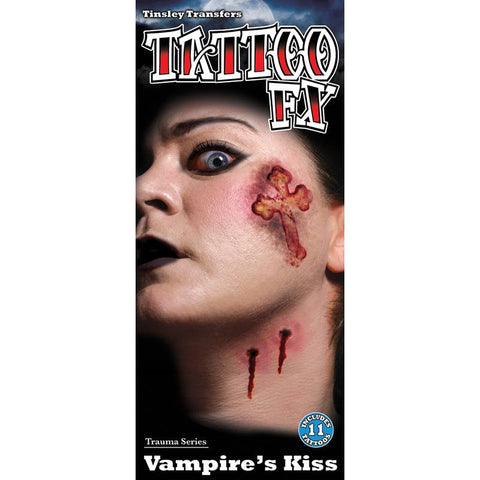 Tinsley Transfers Gorywood Vampire Kiss Temporary Tattoos