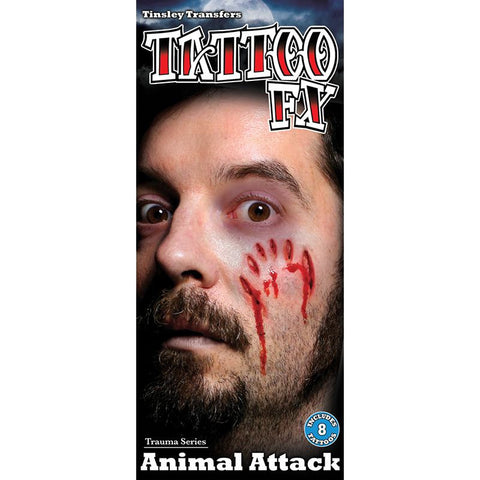 Tinsley Transfers Gorywood Animal Attack Temporary Tattoos