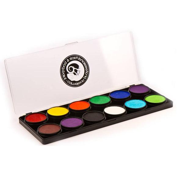 Cameleon 12 Color Face Paint Palettes - Base (10 gm)