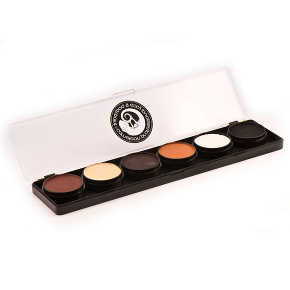 Cameleon 6 Color Face Paint Palettes - Dermaniac (10 gm)