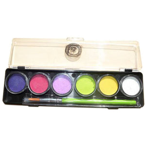 Cameleon 6 Color Mini Face Paint Palettes - Bubble Box (8 gm)
