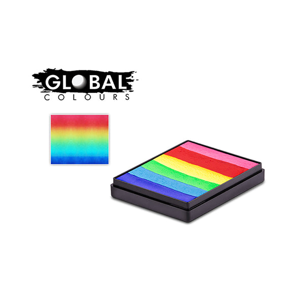 Global Colours Magnetic One Stroke Split Cake - Bright Rainbow, 50 gm