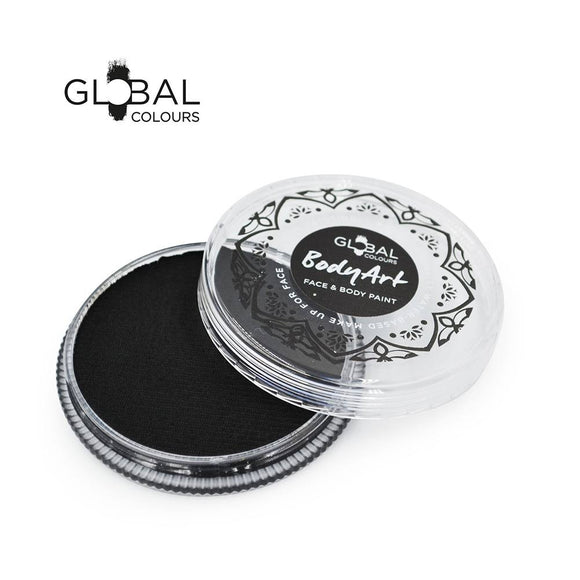 Global Colours Black Face Paint -  Standard Soft Black (32 gm)