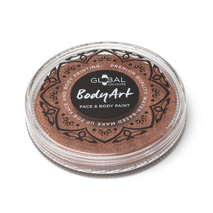 Global Colours Brown Face Paint -  Metallic Copper (32 gm)