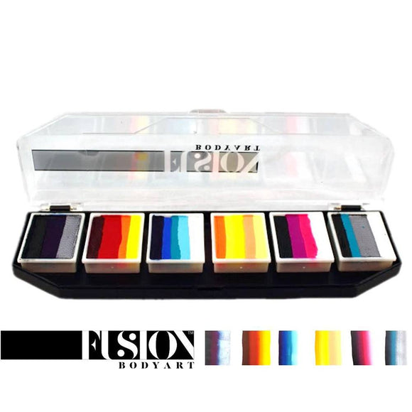 Fusion Body Art & FX Spectrum Palette - Hero Power by Onalee Rivera (6 Cakes/10 gm)