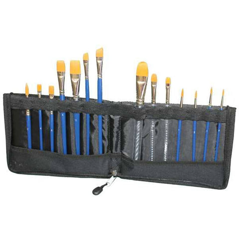 Tag Body Art Brush Wallet With Zip (14 Brushes Included)